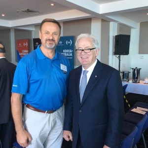 Alex Simdikoff and MInister Andrew Robb Envoy for Trade